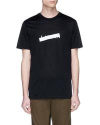 Lanvin - X Cédric Rivrain Reflective Tape Logo Print T-shirt - Lyst