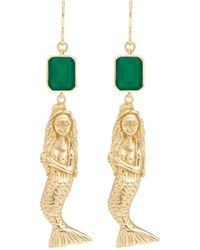 Elizabeth and James - 'mallory' Agate Mermaid Drop Earrings - Lyst
