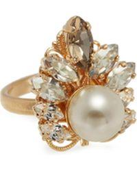 Anton Heunis - Swarovski Crystal Pearl Cluster Ring - Lyst