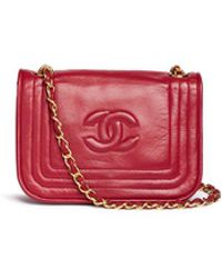 Chanel | Quilted Tri-border Lambskin Leather Flap Bag | Lyst