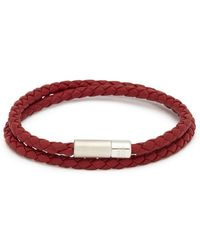 Tateossian - 'pop Rigato' Double Wrap Braided Leather Bracelet - Lyst