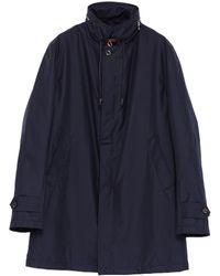 Sealup - Retractable Hood Padded Twill Raincoat - Lyst