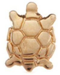 Loquet London - 'turtle' 14k Yellow Gold Single Stud Earring – Wisdom - Lyst