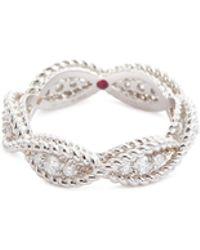 Roberto Coin - 'new Barocco' Diamond 18k White Gold Ring - Lyst