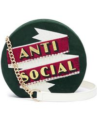 Cecilia Ma - 'anti Social' Faux Leather Clutch - Lyst
