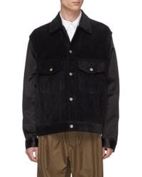 Song For The Mute - Corduroy Panel Shirt Jacket - Lyst