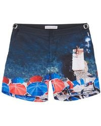 Orlebar Brown - 'bulldog Brolly Folly' Seaside Print Swim Shorts - Lyst