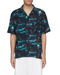 You As - Hawaii Storm Print Shirt - Lyst