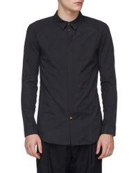 DEVOA - Raglan Sleeve Zip Placket Shirt - Lyst