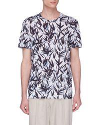 Theory - 'essential' Leaf Print T-shirt - Lyst