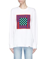 Proenza Schouler - Pswl Graphic Print Long Sleeve T-shirt - Lyst