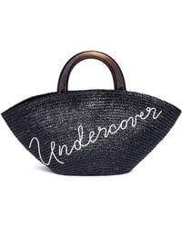 Eugenia Kim - 'carlotta Undercover' Embroidered Straw Tote Bag - Lyst