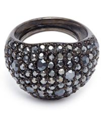 Kenneth Jay Lane - Glass Crystal Wide Band Ring - Lyst
