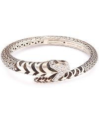 John Hardy | Diamond Topaz Silver Macan Bangle | Lyst