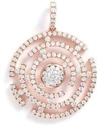 LC COLLECTION - 'art Deco' Diamond 18k Rose Gold Maze Pendant - Lyst