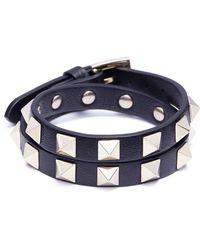 Valentino - 'rockstud' Double Wrap Bracelet - Lyst