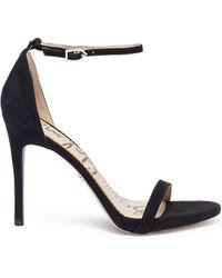 Sam Edelman - 'ariella' Ankle Strap Suede Sandals - Lyst