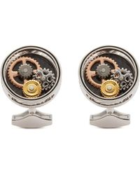 Tateossian - Gear Carbon Fibre Cufflinks - Lyst