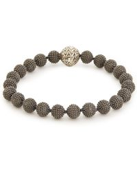 John Hardy - Rhodium Silver Jawan Bead Bracelet - Lyst