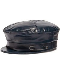 Lyst - Gigi Burris Millinery  georgie  Leather Newsboy Cap in Purple cac4d1863c03