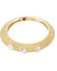 Roberto Coin - 'new Barocco' Diamond 18k Yellow Gold Beaded Ring - Lyst