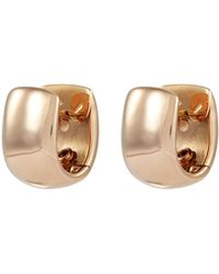Roberto Coin - 'oro Classic' 18k Rose Gold Earrings - Lyst