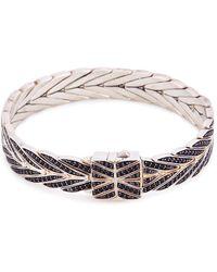 John Hardy - Sapphire Spinel Silver Weave Effect Link Chain Bracelet - Lyst