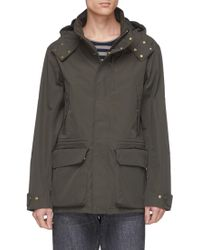 The Workers Club - Detachable Hood H2o Protector Canvas Shell Jacket - Lyst