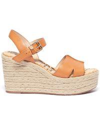 89285633377 Sam Edelman  dina  Frayed Canvas Espadrille Platform Sandals in Pink ...