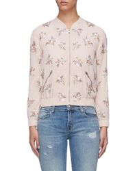 Needle & Thread - Sequinned Floral Bomber Jacket - Lyst