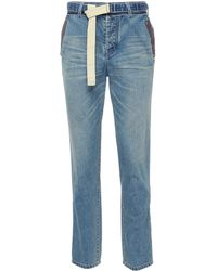 Sacai - Belted Contrast Pocket Jeans - Lyst