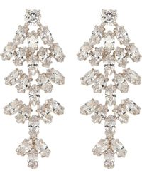 CZ by Kenneth Jay Lane - Cubic Zirconia Leaf Statement Earrings - Lyst