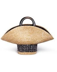 Eugenia Kim - Tweed Straw Hat Bag - Lyst