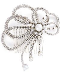 Erickson Beamon - 'knights' Swarovski Crystal Glass Pearl Hair Comb - Lyst