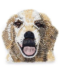Mignonne Gavigan | Beaded Dog Brooch – Golden Retriever | Lyst