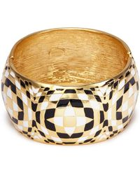 Kenneth Jay Lane | Geometric Pattern Cuff | Lyst