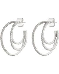CZ by Kenneth Jay Lane - Cubic Zirconia Triple Hoop Earrings - Lyst