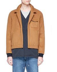 Sunnei - Wool-cashmere Melton Layered Coat - Lyst