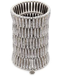 Philippe Audibert - 'almond' Swarovski Crystal Five Row Plate Elastic Bracelet - Lyst