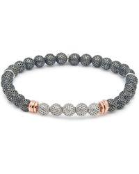 Tateossian - 'stonehenge' Silver Bead Bracelet - Lyst