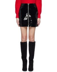 Rag & Bone - Heidi' Zip Front Patent Leather Skirt - Lyst