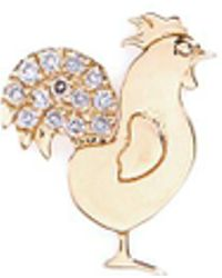 Loquet London - 18k Yellow Gold Diamond Chinese New Year Charm - Rooster - Lyst