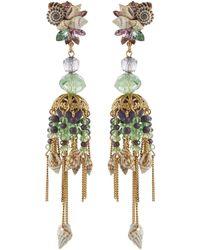 Erickson Beamon - 'enchanted World' Seashell Cluster Chandelier Drop Earrings - Lyst