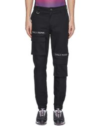 Daily Paper - Logo Embroidered Cargo Pants - Lyst