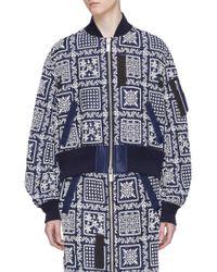 Sacai - X Reyn Spooner Floral Embroidered Bomber Jacket - Lyst