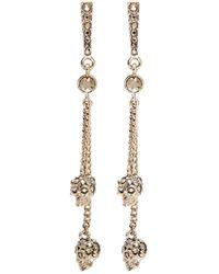Alexander McQueen - Swarovski Crystal Skull Chain Earrings - Lyst