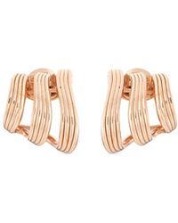 Fernando Jorge - 'stream Lines Triple Hoops' 18k Rose Gold Earrings - Lyst
