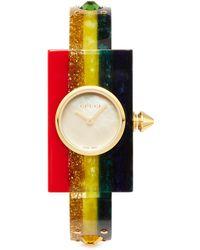 Gucci - 40mm Embellished Plexiglas Bangle Watch - Lyst