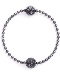 Shamballa Jewels - Royal' Diamond Rhodium 18k Gold Bead Bracelet - Lyst