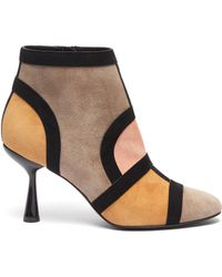 Pierre Hardy - 'frame' Suede Patchwork Ankle Boots - Lyst